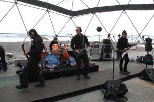 Metallica (da esq. pra dir.): Rob Trujillo, Lars Ulrich, James Hetfield e Kirk Hammet