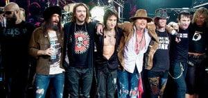 Os membros atuais do Guns N' Roses