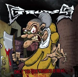 """Arte da capa de """"Only tia Gertrudes is Real"""", primeiro álbum do Gstruds."""
