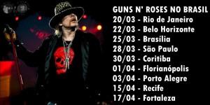 guns n roses no brasil