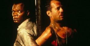 Zeus Carver (Samuel Jackson) e John McClane (Bruce Willis) em sérios apuros!