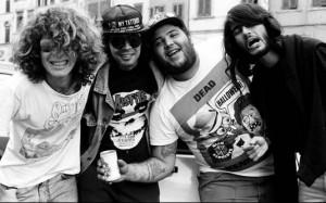 "Old School: R.D.P. na época do ""Anarkophobia"", ainda com Jabá (baixo) e Spaguetti (bateria)"