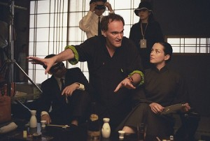 Quentin Tarantino/Set de filmagens Kill Bill