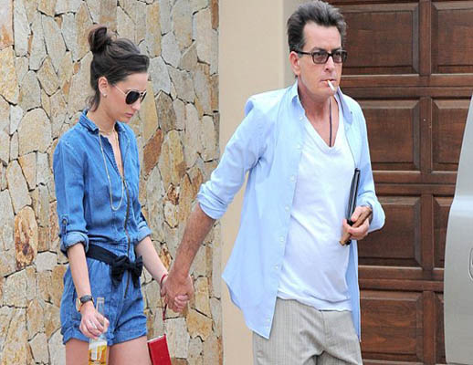 Charlie Sheen e Georgia Jones