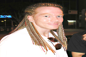 Axl Rose com dreads