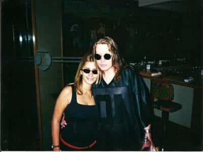 Axl Rose com fã em 2001