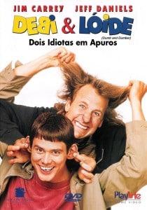 Frente da capa de Dumb & Dumber no Brasil