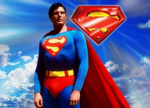 (1952-2004) no poster do filme de Superman (1978)