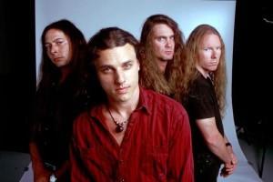 Última formação da banda (da esq. pra dir.): Shanonn Hamm, Chuck Shuldiner, Scott Clendenin e Richard Christy