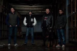 AntiVoid (esq. para dir.): Hugo (bateria), Guito (baixo), Vitor (vocal) e Helder (guitarra).