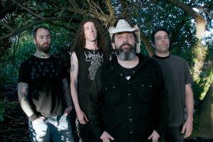 Brutal Truth (esq. pra direita): Eric Burke (guitarra), Dan Lilker (baixo), Kevin Sharp (vocal) e Richard Hoak (bateria)
