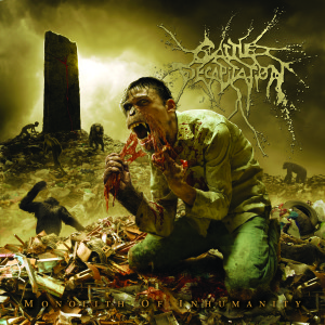 "Impressionante arte da capa de ""Monolith of Inhumanity"", último disco do Cattle Decapitation."