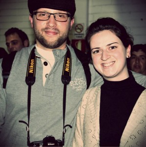 O cineasta Fernando Menegatti e sua esposa.