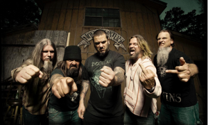 Down (esq. pra dir.): Patrick Brudders (baixo), Jimmy Bower (bateria), Phil Anselmo (vocal), Pepper Keenan (guitarra) e Bobby Landgraf (guitarra)