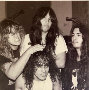 Só feras aqui: David Vincent (baixo), Oscar Garcia (vocal), Jesse Pintado (guitarra) e Pete Sandoval (bateria)